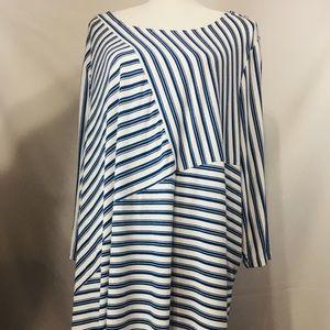 Jessica London blue striped plus size 26/28